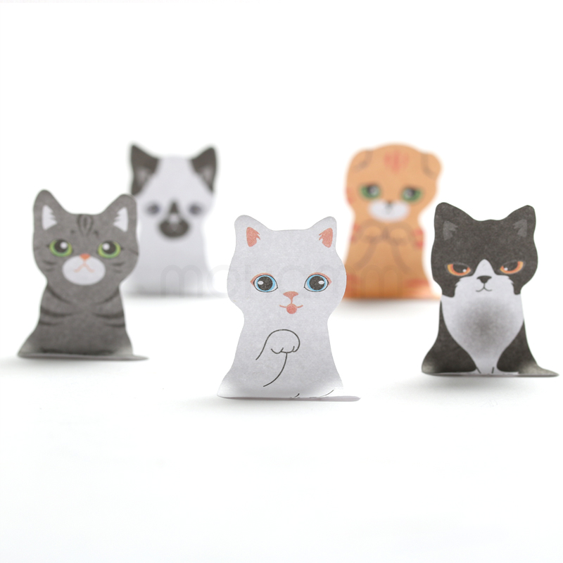 3D Cartoon Kawaii Scrapbooking Cat Dog Box Stickers Cute Korean Stationery Sticky Notes Office School Supplies Post It Memo Pad