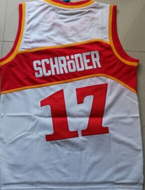 best sneakers 31cd0 a38b0 17 Dennis Schroder jersey Atlanta White,red,Mens Throwback ...