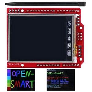Image 1 - 2.4 אינץ TFT LCD תצוגת מודול מגע מסך מגן ILI9340 IC המשולב טמפרטורת חיישן + עט עבור Arduino UNO R3 /מגה 2560 R3