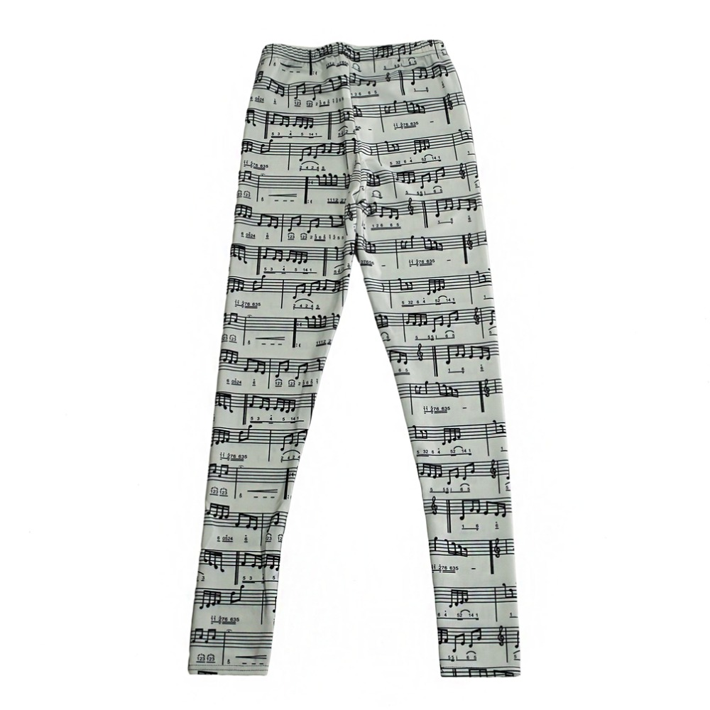 Digital Printing Casual Pants Note music Pattern Women Leggings 7 sizes Fitness Clothing Free Shipping  wholesale