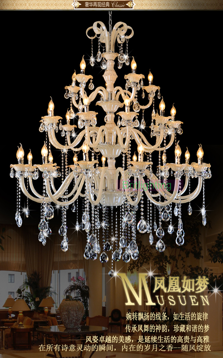 Large chandelier in the hotel crystal chandelier for dining room large chandelier in the hotel crystal chandelier for dining room home lighting indoor lamp white and gold chandelier crystal in chandeliers from lights arubaitofo Images