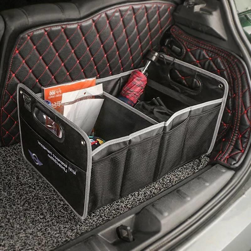 1X Auto Boîte De Rangement Coffre De Voiture Sac Intérieur Accessoires Pour Mini Countryman Cooper Clubman R55 R57 R58 R59 R60 S JCW F54 F55 F57