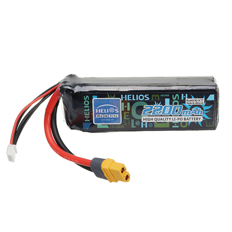 Rechargeable Helios 11.1V 2200mAh 3S 25C XT60 Plug Lipo Battery For BAYANGTOYS X16 X21 Drone Quadcopter Spare Parts helios 22 2v 1800mah 6s 55c xt60 plug rechargeable lipo battery for alzrc devil 380 420 480 align 470 helicopter spare parts