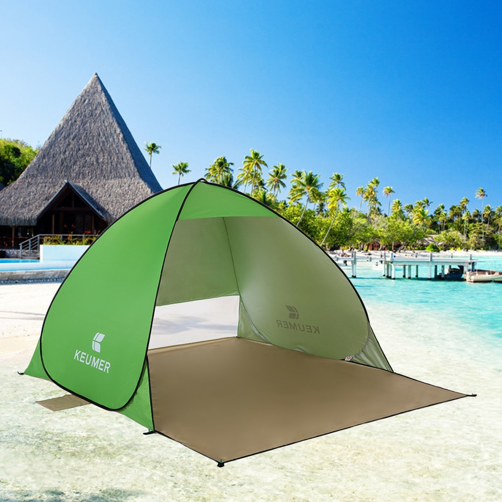 Outdoor Automatic Camping Tent Beach Tent Anti UV Shelter Camping Fishing Hiking Picnic Instant Set Up Outdoor Sunshelter