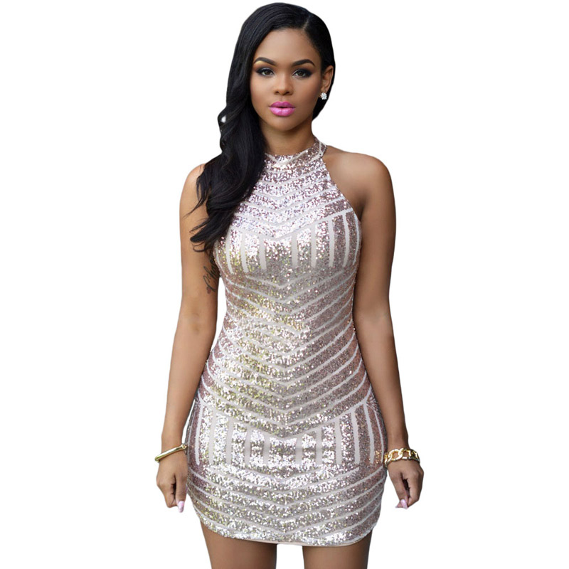 Popular Sequin Tank Dress-Buy Cheap Sequin Tank Dress lots from ...