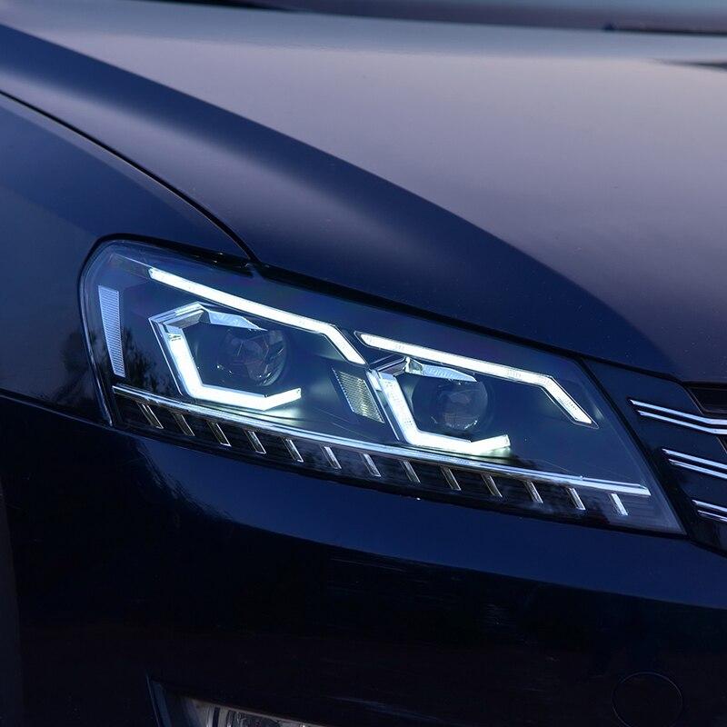 Style de voiture pour Passat B7 US Verson 2012-2016 phare pour Passat B7 phare DRL D2H clignotant dynamique Hid Bi faisceau xénon