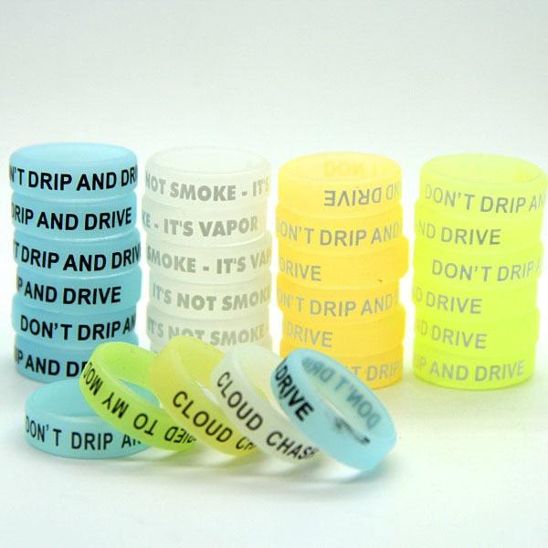 10st glöd i mörk silikon Vape Bands Luminous Vape Band Ringar för - Elektroniska cigaretter