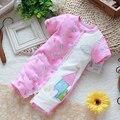 Nuevo 2014 verano ropa de bebé recién nacido en general de los niños del mameluco manga corta mono del bebé del desgaste