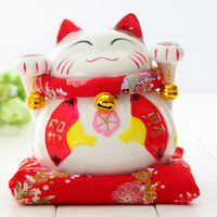Crafts Arts Home Decoration Ceramic Lucky Cat Ornaments Large Japanese Ceramic Piggy Piggy Bank Creative Gift