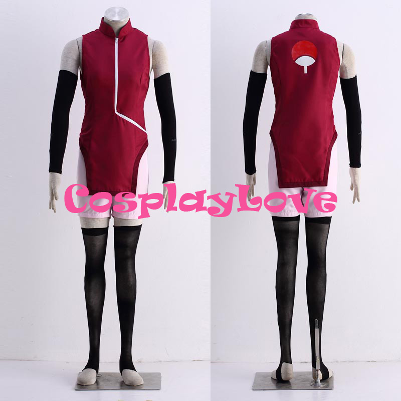 все цены на High Quality Stock Japanese Anime Boruto Naruto the Movie Uchiha Sarada Cosplay Costume For Halloween Christmas CosplayLove