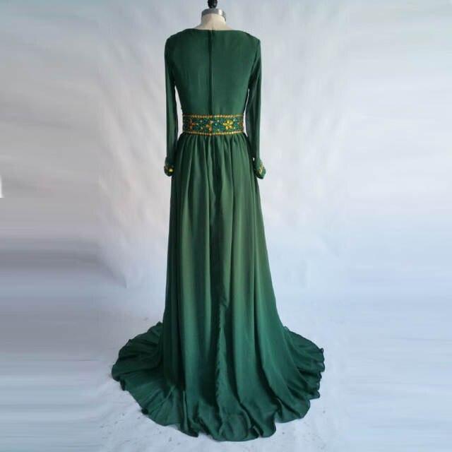 placeholder Moroccan Kaftan Evening Dress 2018 LORIE Gold Beading Prom  Dresses Long Sleeve Muslim Abaya In Dubai 3fab46bdd9e5