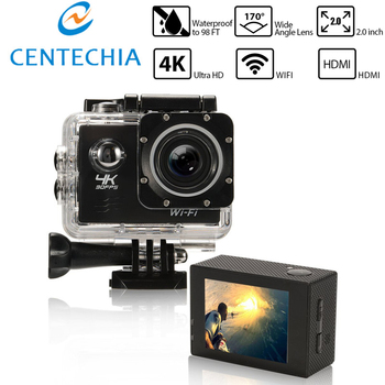 4K WIFI Remote Camera Helmet Camcorder 16 Mega 170 Degree Wide Angle 2.0 LCD Waterproof 30M Extreme Action Cam
