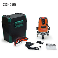 EU plug Zokoun 05RCO 5 Lines 6 Points with plumb dot Tilt Functional 360 rotary self leveling 635NM laser level Tools