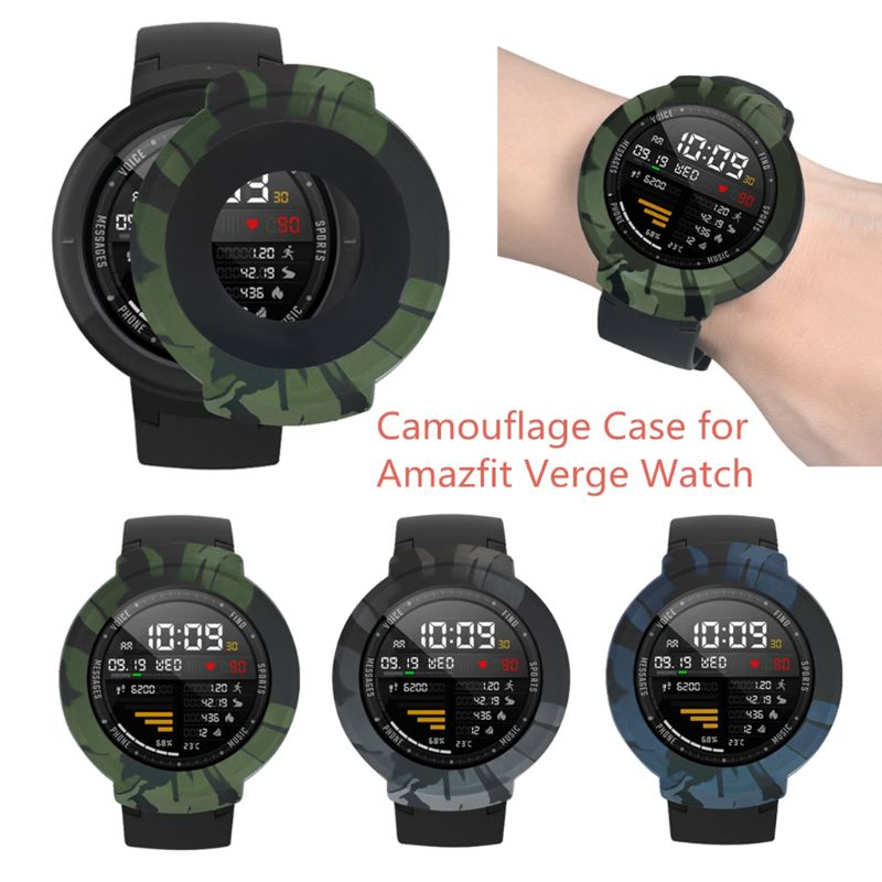 New Camouflage Soft Silicone Case Protective Cover Shell Frame Replacement For Huami Amazfit Verge Smart Watch Accessories Qiang