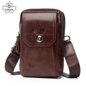 Image 2 - Hakiki Deri Bel Paketleri Paketi bel çantası Çanta Telefon kılıflı çanta Seyahat Bel Paketi Erkek Bel erkek çanta Moda Flep