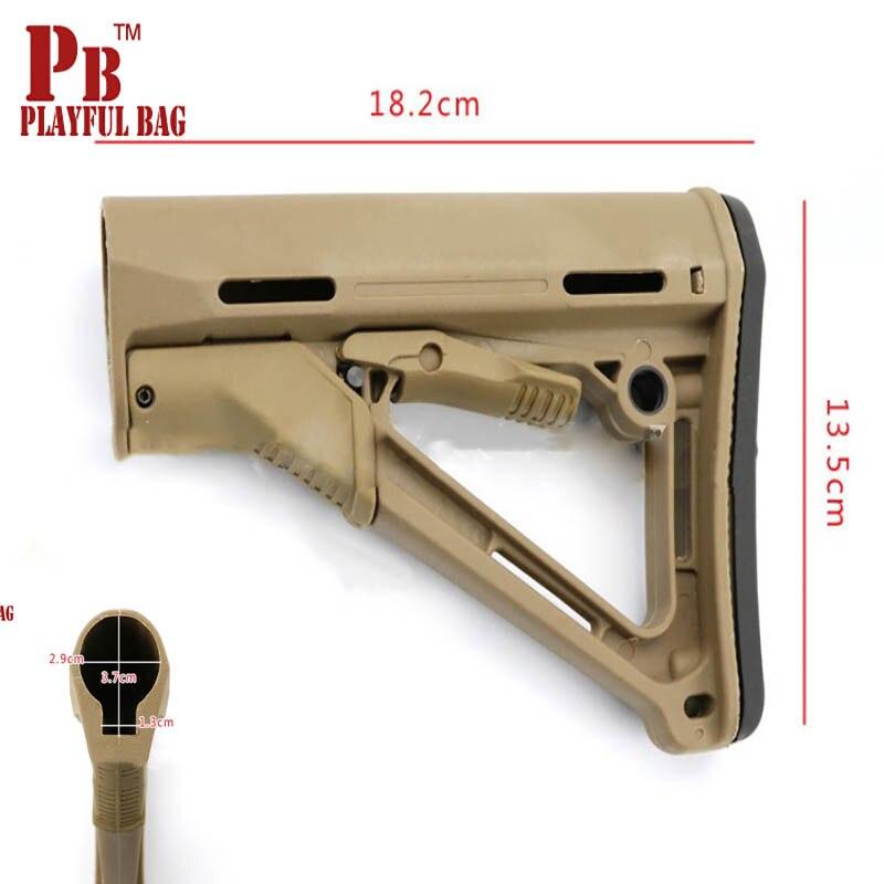 Play equipamentos acessórios jinming mkm2 gel saco de arma de Brinquedo arma CTR CTR V2 série AR ombro traseiro nylon ombro rifle KD1