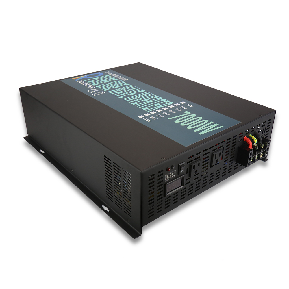 7000W Pure Sine Wave Solar Inverter 12V to 220V Battery Power Inverter Solar Panel Converter 12V/24V/48V DC to 120V/230V/240V AC pure sine wave inverter 24v to 220v 6000w solar power inverter solar system dc to ac voltage converter 12v 48v to 120v 230v 240v