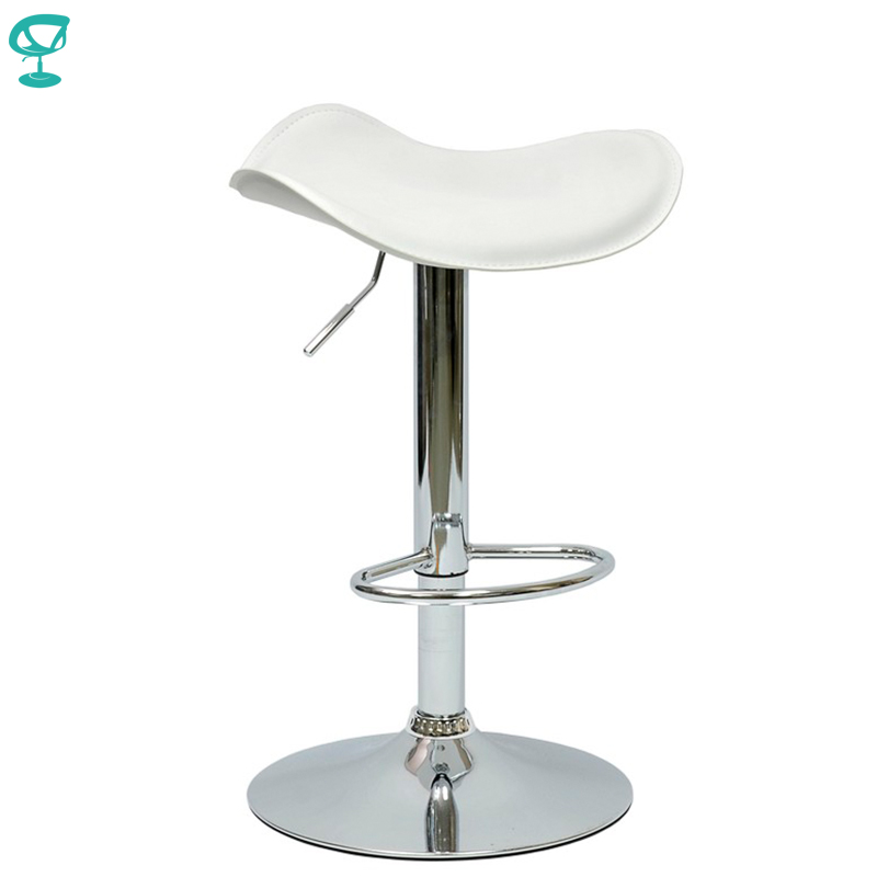 94907 Barneo N-15 Leather Kitchen Breakfast Bar Stool Swivel Bar Chair White Color Free Shipping In Russia