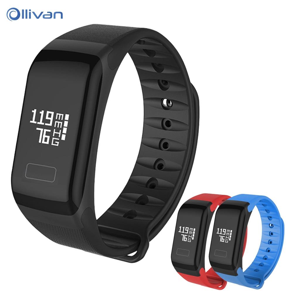 Ollivan Fitness Tracker Wristband GPS Heart Rate Monitor Smart Bracelet F1 Smart bracelet Blood Pressure With Pedometer Bracelet