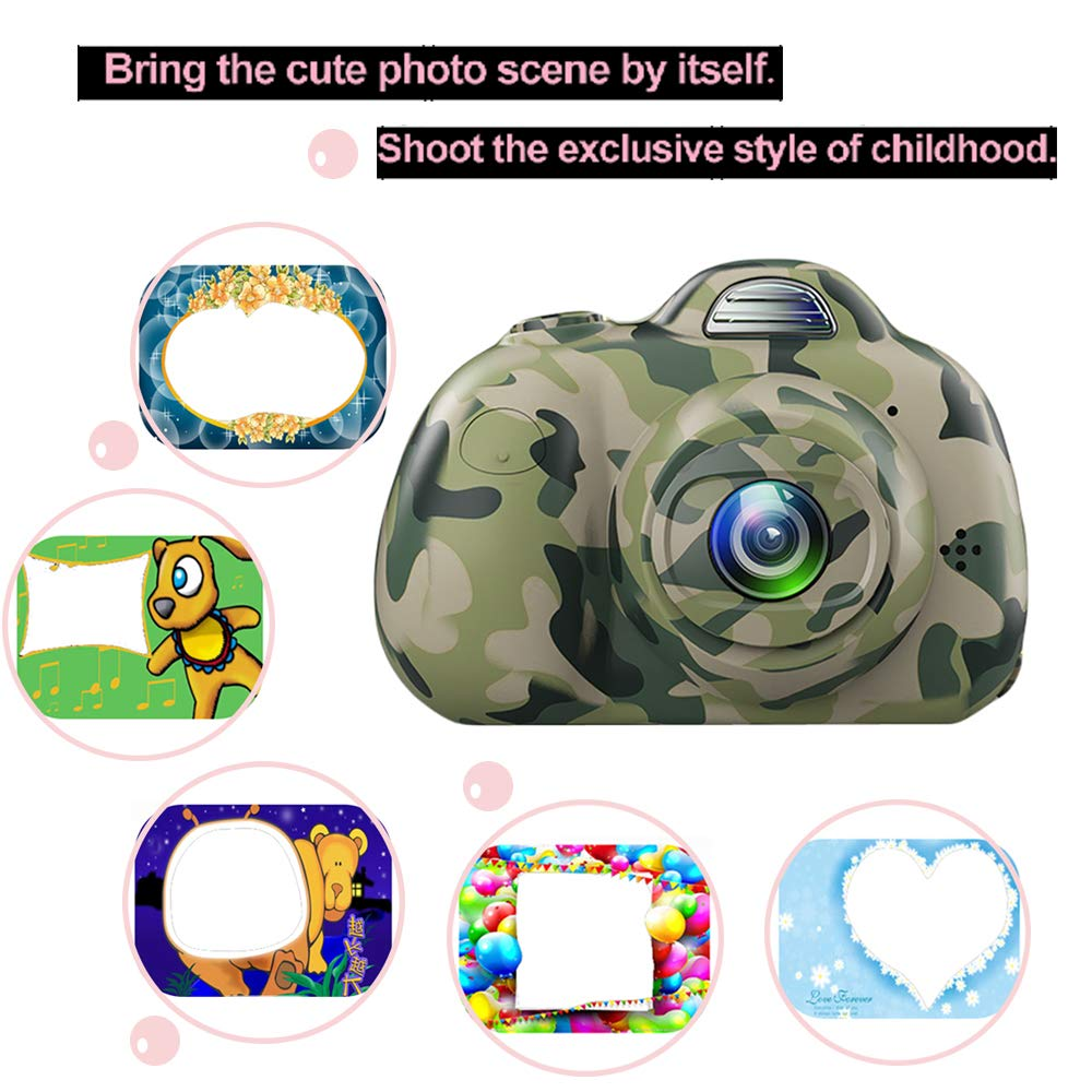Image 3 - Kids Cartoon Camera Digital SLR 8MP 2inch Smart Camera Shockproof Fixed Focus Toy Cameras For Children Christmas Gift Boy Selfie-in Point & Shoot Cameras from Consumer Electronics