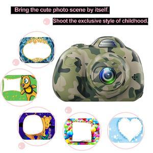 Image 3 - Kids Cartoon Camera Digital SLR 8MP 2inch Smart Camera Shockproof Fixed Focus Toy Cameras For Children Christmas Gift Boy Selfie