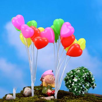 Cute Mini Dolls Home Garden Simulation Colorful Balloons Micro Landscape Garden Decorations Christmas Gift Miniatures 1