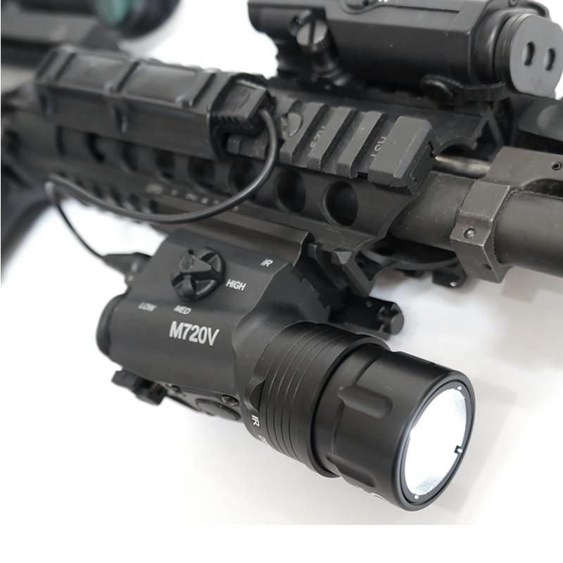 cqc airsoft tactical m720v olheiro levou luz com qd monte strobe lanterna rifle de caca luz
