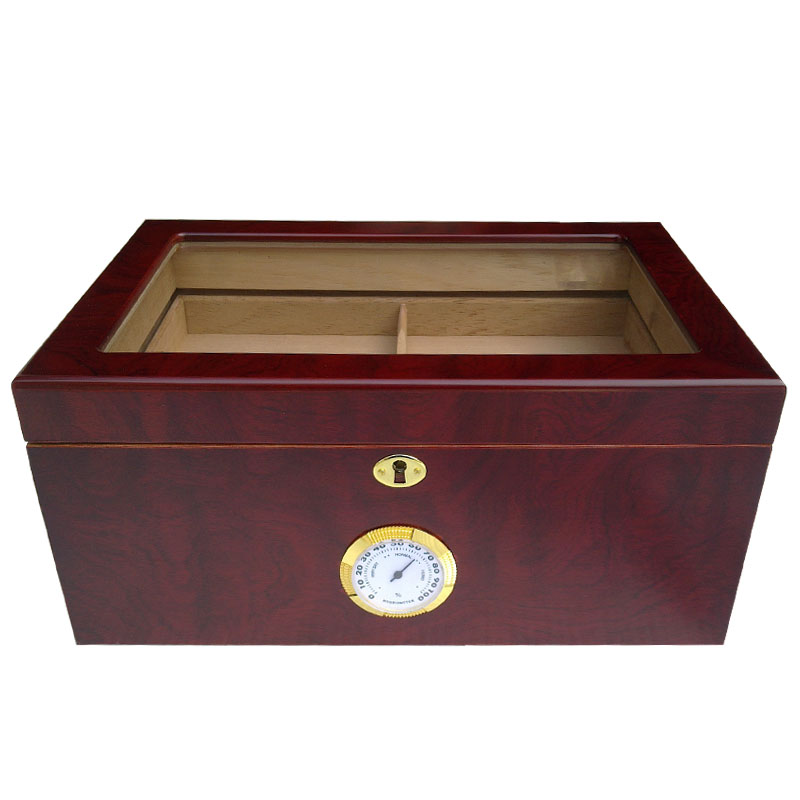 Good Price and Quality Hot Sale Wooden Red Color Cigar Humidor Classic Wood Storage Box Cigar Collection Case