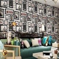 Ücretsiz Kargo Modern İngiliz Tarzı Beyaz Tuğla Duvar Kağıdı Simülasyon Fotoğraf Çerçevesi Duvar Kağıdı Oturma Odası Kanepe Arka Plan Duvar Kağıdı