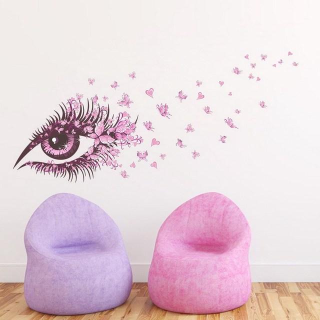 Big Eye Beauty Wall Sticker