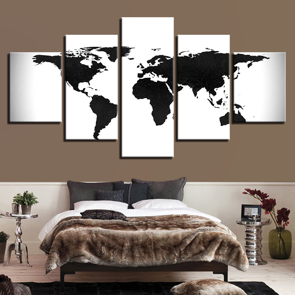 Buy canvas world map 5 and get free shipping on aliexpress gumiabroncs Image collections