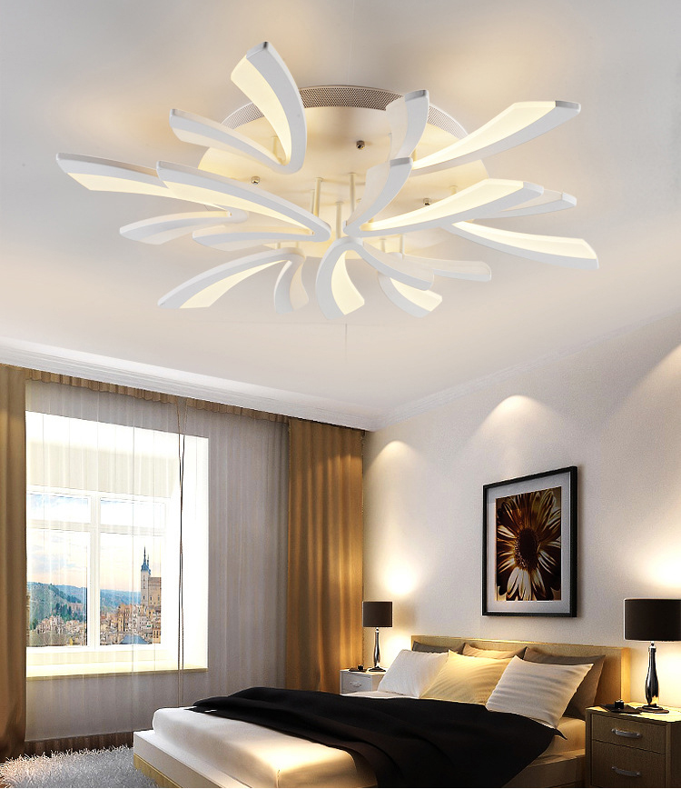 Luxury flush mount ceiling light acrylic decorative lampshade luxury flush mount ceiling light acrylic decorative lampshade ceiling lamp bedroom living room ceiling light lamparas de techo in ceiling lights from lights aloadofball Gallery