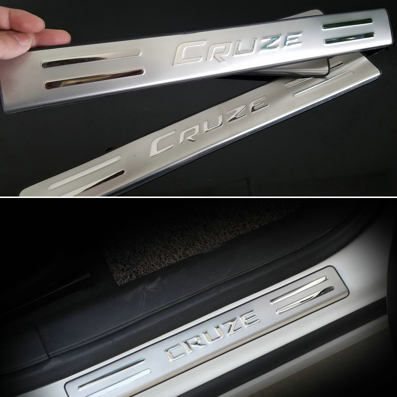 2009 2010 2011 2012 2013 for chevrolet chevy cruze hatchback stainless steel scuff plate door. Black Bedroom Furniture Sets. Home Design Ideas