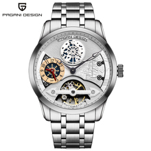 PAGANI design brand fashion mechanical watch mens luxury waterproof stainless steel automatic business casual