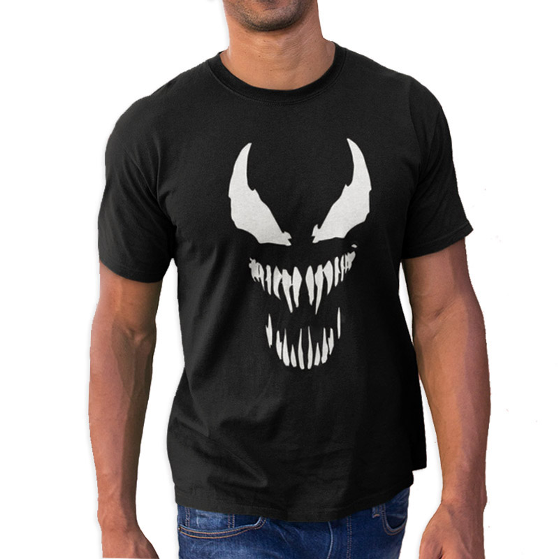 EU Size Punk T Shirt Cool Comic Movie Originality Black Cotton Superhero T-shirt Men Anime High Quality Soft Summer Tops Tee