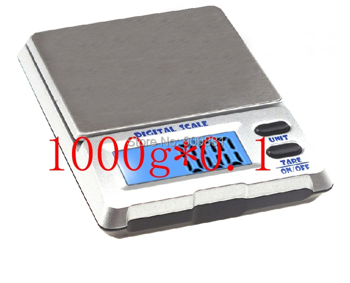 1kg 0 1g Digital Pocket Scale Diamond Jewelry Electronic Scales 1000g 0 1 Gram Blue LED