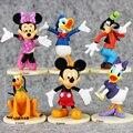 6 Pçs/set 6-8 cm aprox Mickey Minnie Mouse Pato Donald Daisy Duck Figuras PVC Figura Brinquedos Dolls Crianças grandes Presentes de Varejo