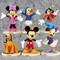 6Pcs/set 6-8cm approx Mickey Figures Minnie Mouse Donald Duck Daisy Duck PVC Figure Toys Dolls Kids Great Gifts Retail