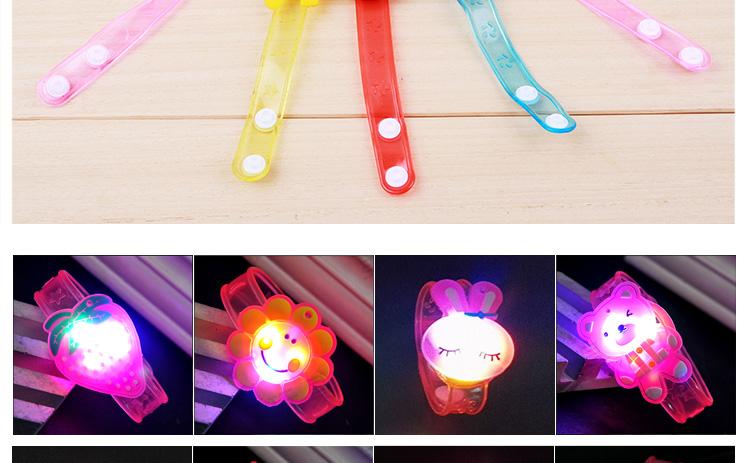 1pcs Cartoon LED Night Light Party Xmas Decoration Colorful LED Watch Toy Boys Girls Flash Wrist Band Glow Luminous Bracelets (3)