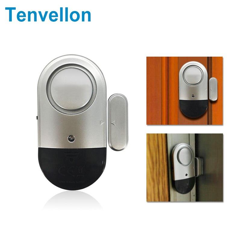 Tenvellon Security Alarm Small Independent Alarm Sensors Home Magnetic Door Window Magnetic Burglar Home Alarm Sensor Detector