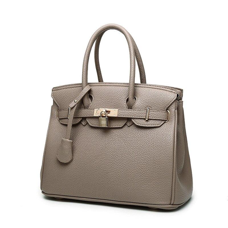 high grade soft leather bag luxury high quality handbags top handle classic women shoulder bags designed bolsa feminina 8 colors