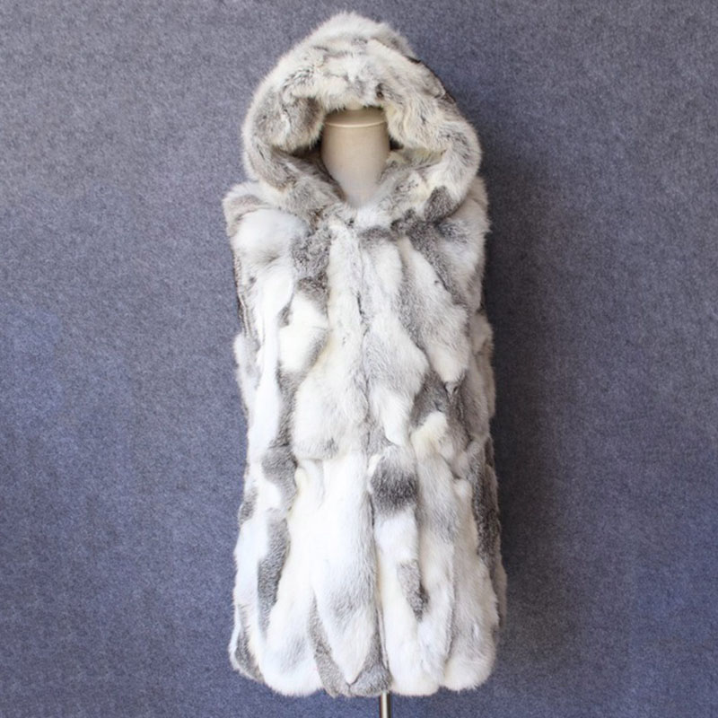 women clothing natural rabbit fur waistcoat female autumn jacket sleeveless real fur vest for winter gilet