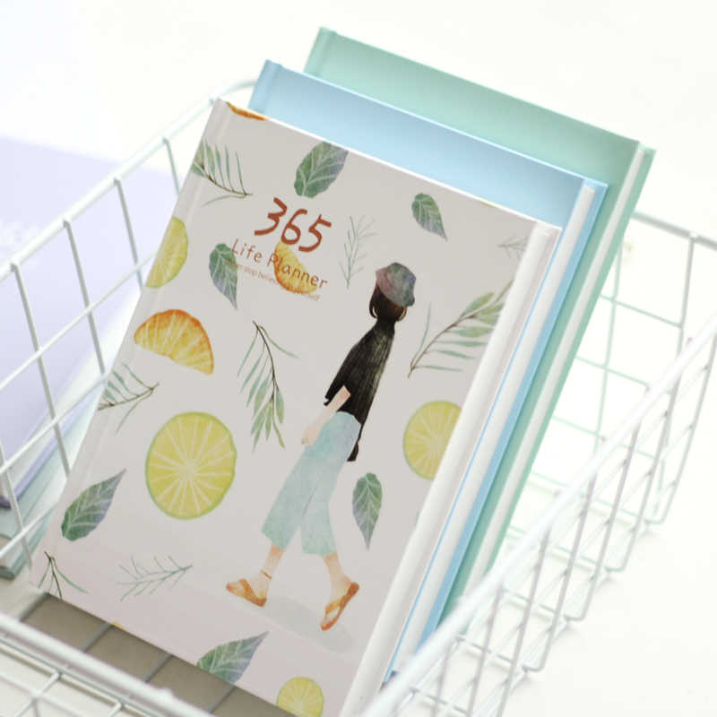 Simple Fresh 365 Daily Plan Notebook Schedule Color Inner Page