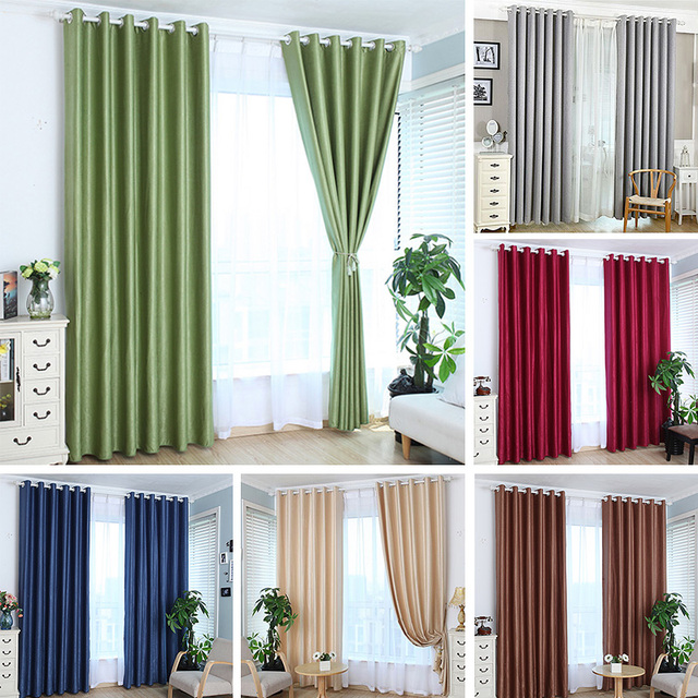 New Solid Color Cotton Linen Shade Window Kitchen Bathroom Living Room  Curtain Divider Sheer Panel Drapes