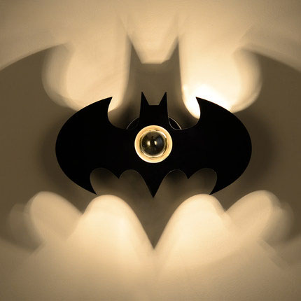 Led Lamps Modern Wall Mounted Black Painted Batman Shape Wall Lamp With Led E27 Semi-plating Bulb Wall Sconce For Bedside Aisle Staircase Always Buy Good Led Indoor Wall Lamps