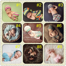 2014 New Children Accessories Baby Photography Props Hat and Trousers Hand Crochet 10 styles 1pc/lot free shipping