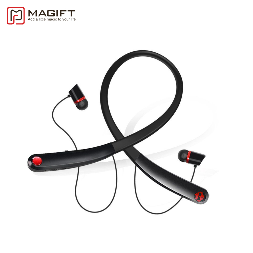 Magift Bluetooth V4.2 Wireless Headphone Stereo Music Sports Neckband Earphone In-ear Headset with Mic for Iphone Samsung phone new metal magnetic wireless bluetooth headphone sport headset hands fress hifi earphone with mic for iphone samsung phones