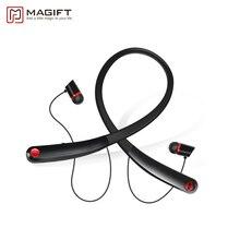 V4.2 Magift Bluetooth Inalámbrico Auriculares Estéreo de Música Deportes Neckband Auricular En La Oreja Los Auriculares con el Mic para El Iphone Samsung teléfono