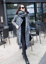 Thick Long Women Sweaters and Cardigan Sleeve  Winter Coat Loose Solid Top Femme Xnxee