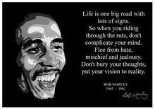 Bob Marley Quote 1 Inspirational Artwork Reggae Legend Art Wall Decor Silk Print Poster